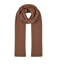 William Sharp Embellished Waffle Scarf Beige