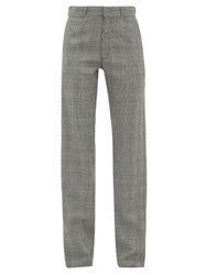 Vetements Houndstooth Tailored Twill Trousers Grey