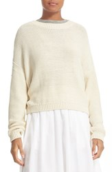 Vince Women's Drop Shoulder Cotton Blend Sweater