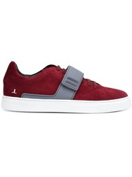 Louis Leeman Strap Detail Sneakers Red