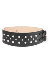 Mcq By Alexander Mcqueen Studded Leather Belt Black