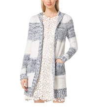 Michael Michael Kors Striped Cotton Blend Cardigan