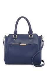 Urban Expressions Ivy Faux Leather Satchel Blue