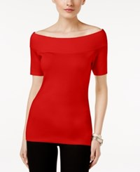 Ny Collection Off The Shoulder Sweater Red