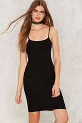 Up Close And Personal Bodycon Dress Black