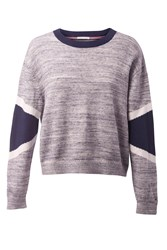 Tommy Hilfiger Panel Knit Sweater Grey