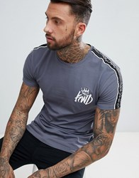 Kings Will Dream Muscle Fit Roxberry T Shirt In Grey