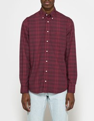 Gitman Brothers Vintage Archive Poplin Bd In Burgundy