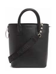 Mother Of Pearl Hoxton Leather Tote Bag Black