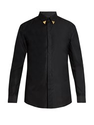 Givenchy Contemporary Fit Collar Tipped Single Cuff Shirt Black