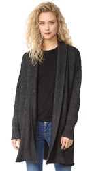 Three Dots Charlize Cozy Cardigan Charcoal Heather