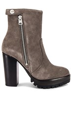 Allsaints Ana Bootie In Gray. Charcoal Grey Suede