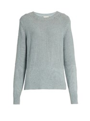 Le Kasha Gstaad Cashmere Crew Neck Sweater Light Green