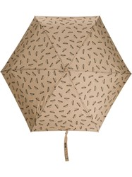 Moschino Repeat Logo Print Umbrella 60