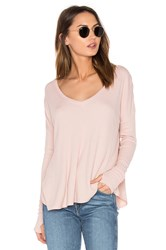 Feel The Piece Robin Scoop Neck Tee Blush