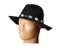 Steve Madden Wide Brim Fedora With Santa Fe Band Black Fedora Hats