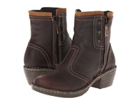Lobo Solo Alice Chocolate Leather Women's Zip Boots Brown