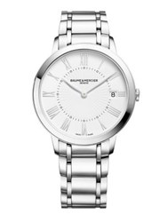 Baume And Mercier Classima Stainless Steel Bracelet Watch Silver Rose Gold