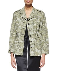 Atm Anthony Thomas Melillo Camo Field Drawstring Waist Jacket Moss Combo