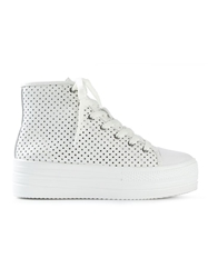 Junya Watanabe Comme Des Garcons Perforated Hi Top Trainers