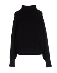 Unique Knitwear Turtlenecks Women Black