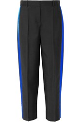 Givenchy Striped Mohair And Wool Blend Straight Leg Pants Black Gbp