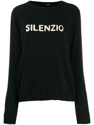 Aspesi Crew Neck Logo Sweater Black