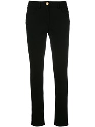 Class Roberto Cavalli Studded Trim Pants Black