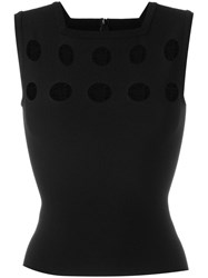 Alaia Square Neck Top Black