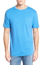 Men's Southern Tide Embroidered Pocket T Shirt Blue Stream