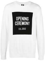 Opening Ceremony Logo Knit Jumper White