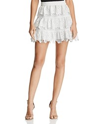 Aqua X Maddie And Tae Lace Tiered Skirt 100 Bloomingdale's Exclusive White