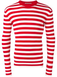 Ermanno Scervino Striped Jumper Red