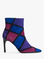 Geox 'S Faviola Suede Ankle Boots Blue Fuchsia