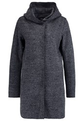 Vila Vicille Classic Coat Dark Grey Melange Mottled Dark Grey