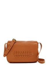 Lucky Brand Leather Kingston Flap Crossbody Brown