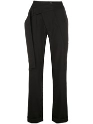 Monse Mid Rise Straight Trousers Black