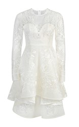 Thurley Costa Rae Asymmetrical Lace Dress White