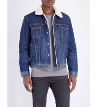 Levi's Type 3 Sherpa Denim Trucker Jacket Lucky Town Sherpa