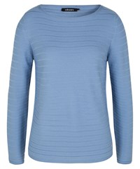 Olsen Ribbed Cotton Jumper Blue