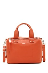Perlina Ellen Leather Satchel Orange