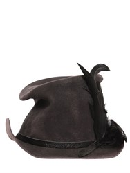 Move Feathered Waxed Wool Felt Hat