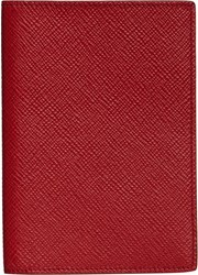 Smythson Panama Passport Cover Red