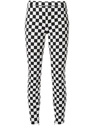 Boutique Moschino Check Print Skinny Trousers Black