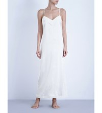 La Perla Silk Essence Long Stretch Silk Nightgown Natural