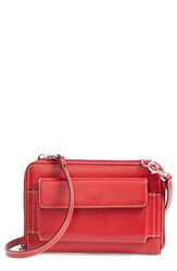 Women's Lodis 'Audrey Collection Tracy' Leather Convertible Phone Wallet Red