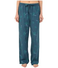 Life Is Good Sleep Pants Pacific Blue Printed Tea Cup Women's Pajama
