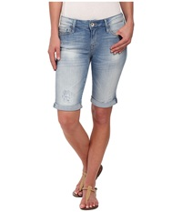 Mavi Jeans Karly Shorts In Shaded Ripped Nolita Shaded Ripped Nolita Women's Shorts Blue