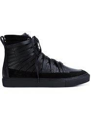 Damir Doma 'Falco' Hi Top Sneakers Black
