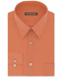 Geoffrey Beene Men's Classic Fit Wrinkle Free Bedford Cord Dress Shirt Apricot